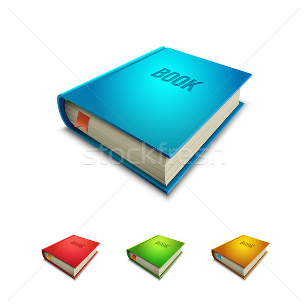 Hardcover Book Icon Set Stock photo © sgursozlu