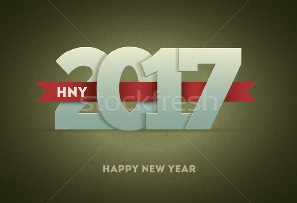 2017 Happy New Year Stock photo © sgursozlu