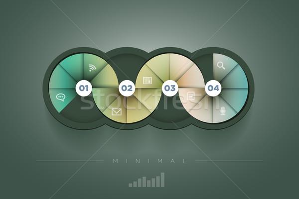 Círculo forma modelo de design vetor abstrato Foto stock © sgursozlu
