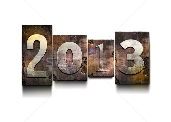 Ano 2013 palavra acaso tipo Foto stock © sgursozlu