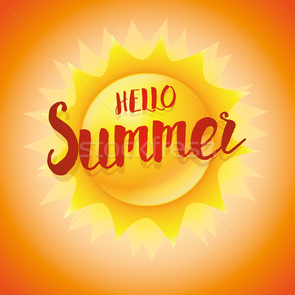 Hello Summer Concept Stock photo © sgursozlu