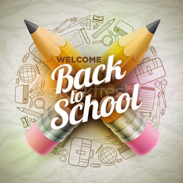 Stock photo: Welcome Back To School Poster