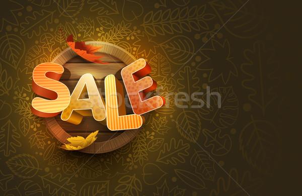 Vector Autumn Sale Design Stock photo © sgursozlu