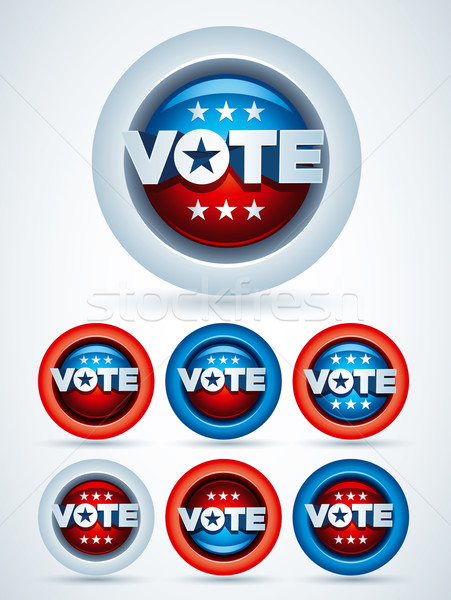 Vote badges vecteur symbole Photo stock © sgursozlu