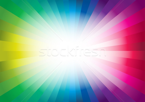 Colorato vettore abstract Rainbow star Foto d'archivio © sgursozlu
