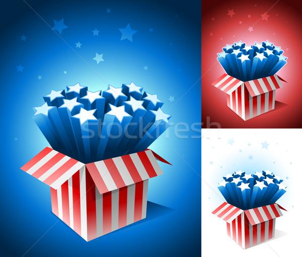 Americano estrela caixa elementos Foto stock © sgursozlu