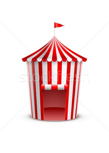 Circo tenda projeto fundo bandeira vermelho Foto stock © sgursozlu