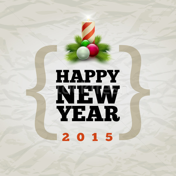 Boldog új évet 2015 vektor modern design sablon elemek Stock fotó © sgursozlu