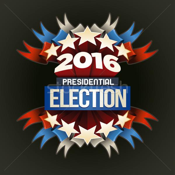 2016 élection affiche année présidentielle design Photo stock © sgursozlu