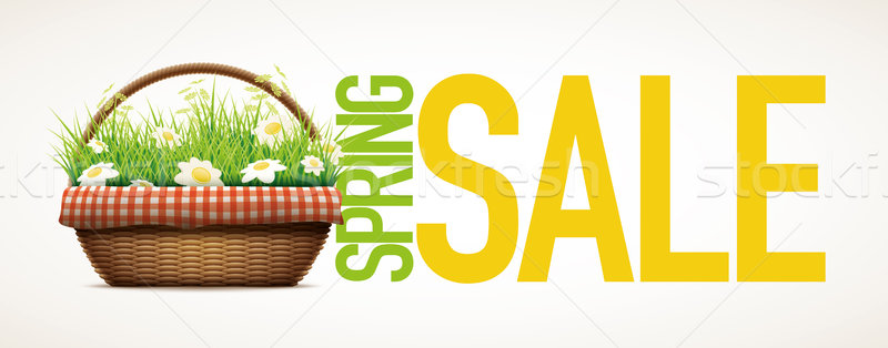 Spring Sale banner Stock photo © sgursozlu