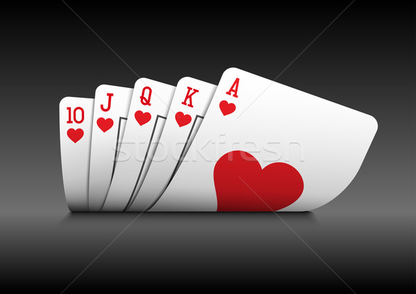 Royal Flush poker cards on black Stock photo © sgursozlu
