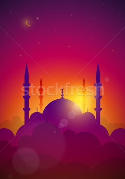 Mecset tájkép vektor elemek réteges külön Stock fotó © sgursozlu