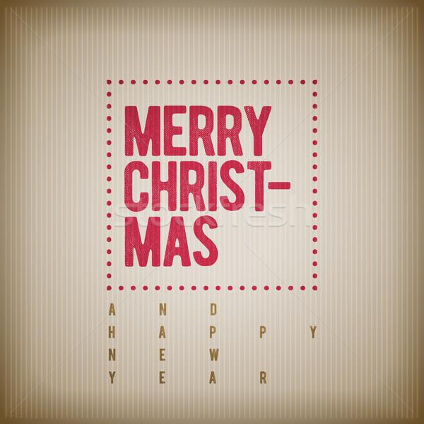 Natal ano novo saudação projeto vetor retro Foto stock © sgursozlu