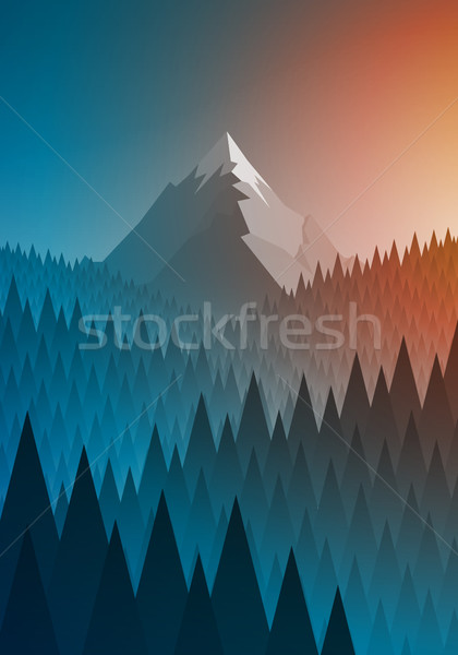 Foto stock: Montanha · floresta · abstrato · natureza · paisagem · elementos