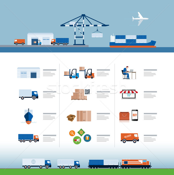 Logistics and delivery process design Stock photo © sgursozlu