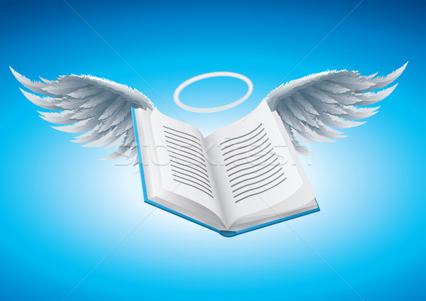 Angel book Stock photo © sgursozlu