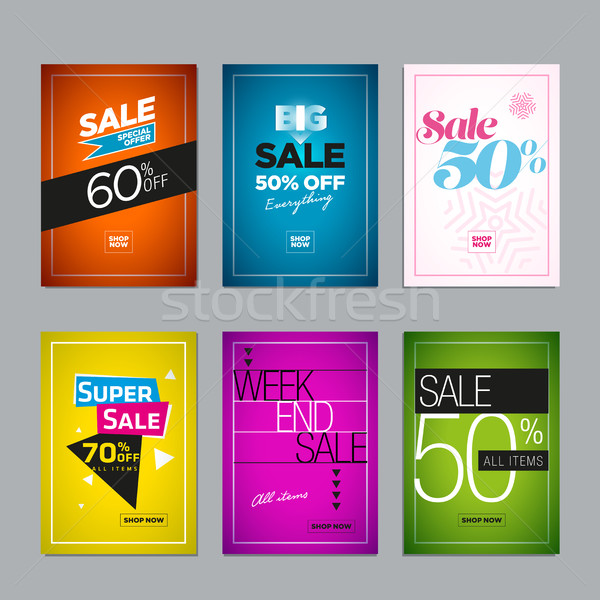 Sale Design Set Stock photo © sgursozlu