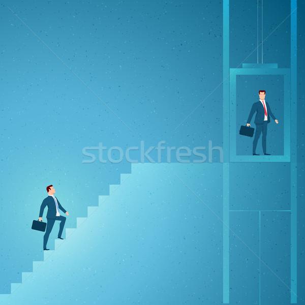 Foto stock: Negócio · sucesso · elementos · separadamente