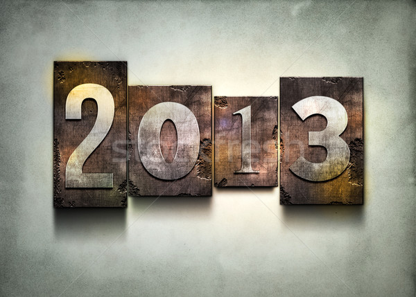 Year 2013 letterpress. Stock photo © sgursozlu