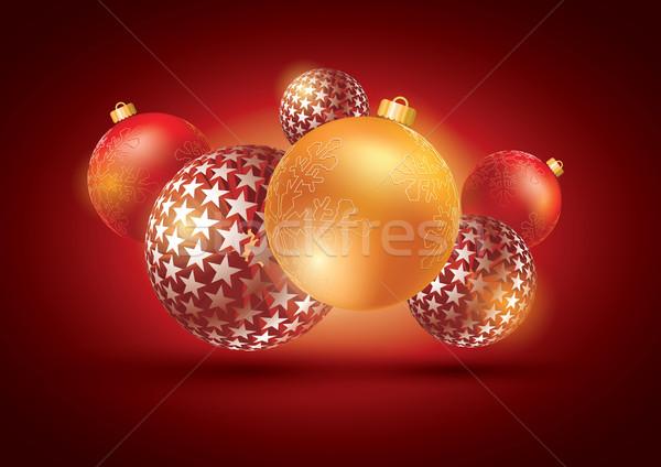 abstract Merry Christmas composition. Stock photo © sgursozlu