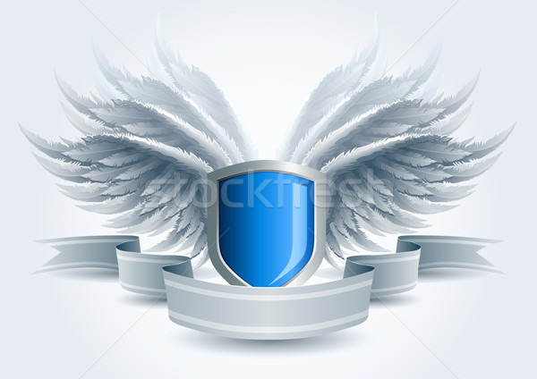 Winged shield banner Stock photo © sgursozlu