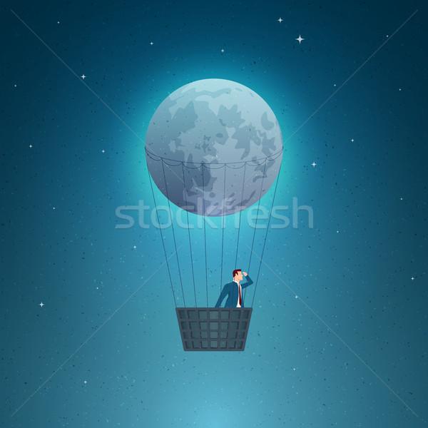 Business ontdekken visie toekomst communie Stockfoto © sgursozlu