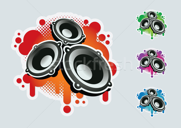 Spreker symbool ingesteld kleuren communie Stockfoto © sgursozlu