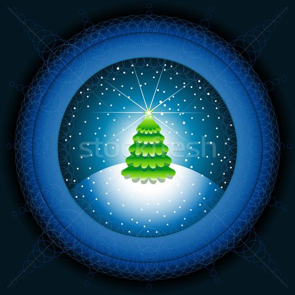 abstract christmas tree Stock photo © sgursozlu