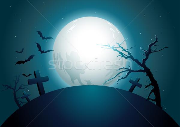 halloween midnight. Stock photo © sgursozlu