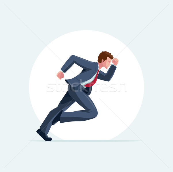 Runner man vector illustration Stock photo © sgursozlu