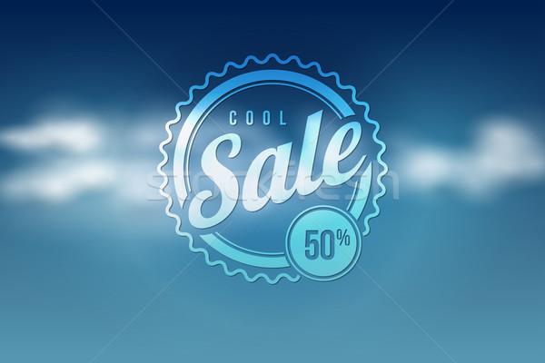 Sale seal on blue sky Stock photo © sgursozlu