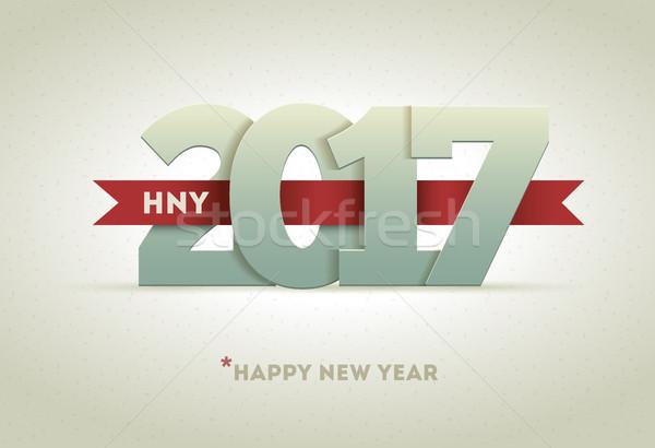 с Новым годом вектора счастливым дизайна Сток-фото © sgursozlu