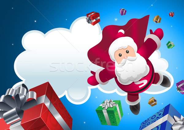 Super Santa coming! Stock photo © sgursozlu
