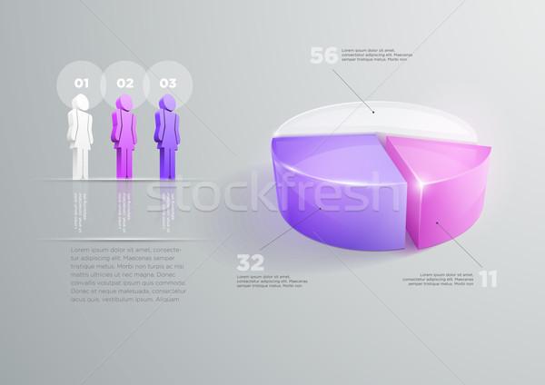 Foto stock: Projeto · vetor · modelo · de · design · mulher