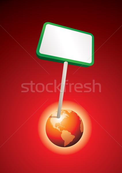 Globo terra negócio trabalhar mapa Foto stock © sgursozlu