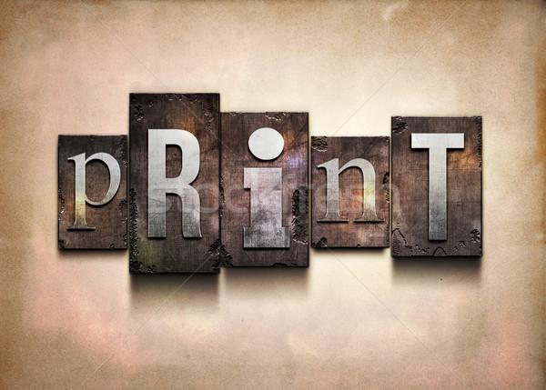 Imprimir palavra acaso tipo grunge Foto stock © sgursozlu