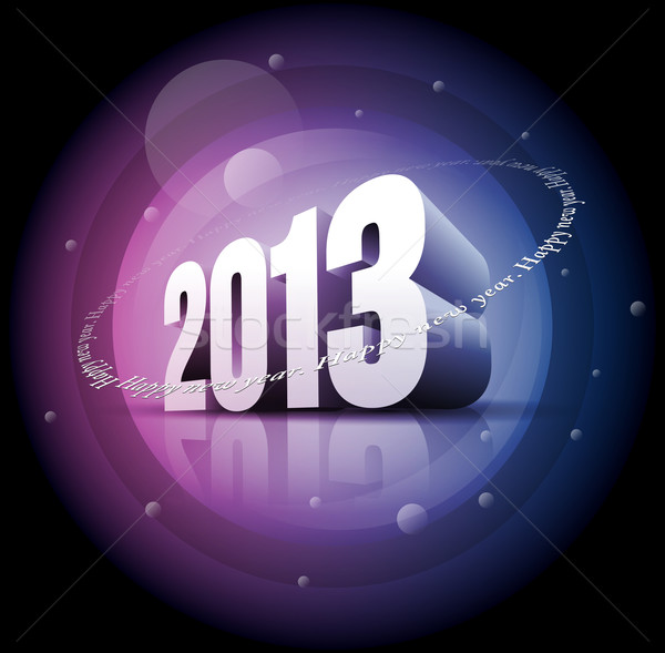 2013 Happy New Year Stock photo © sgursozlu