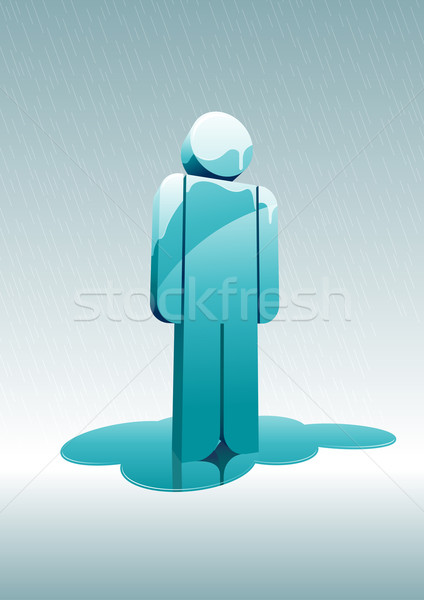 melting man under rain. Stock photo © sgursozlu