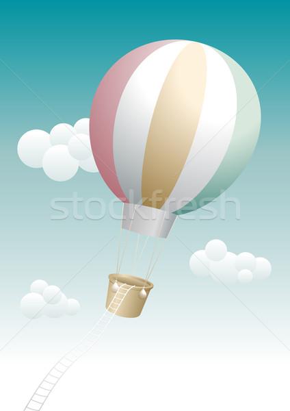 Kaçış Sıcak hava balonu balon tatil hava macera Stok fotoğraf © sgursozlu