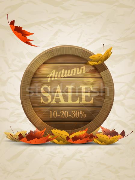 Autumn Sale Poster Template Stock photo © sgursozlu