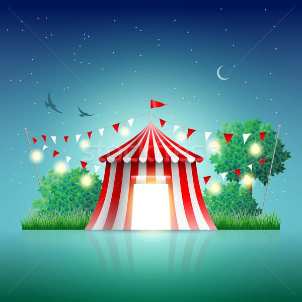 Circo tenda noite paisagem elementos Foto stock © sgursozlu
