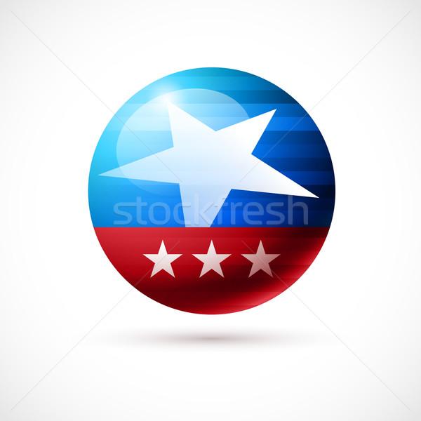 Amerikan rozet Amerika Birleşik Devletleri Amerika bayrak dizayn Stok fotoğraf © sgursozlu