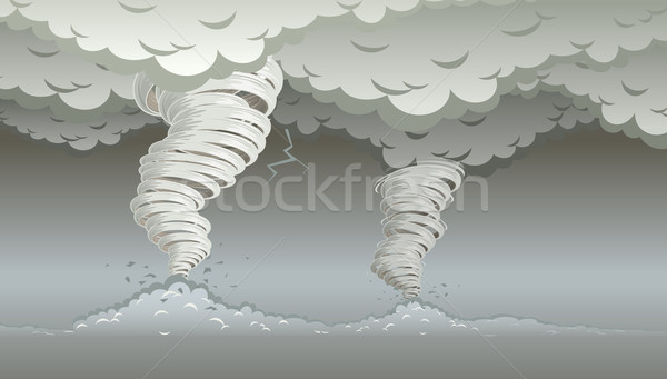 Twin tornados Stock photo © sgursozlu