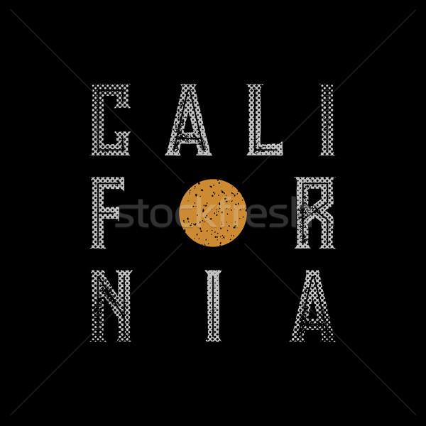 California typographic design  Stock photo © sgursozlu