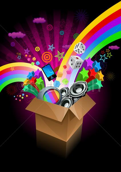 Caixa de presente surpresa preto elementos Foto stock © sgursozlu