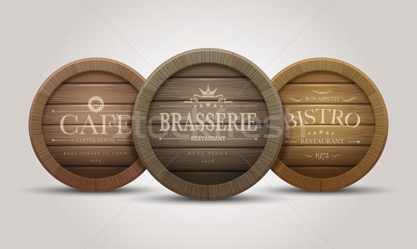 ストックフォト: 木製 · バレル · カフェ · レストラン · ビール