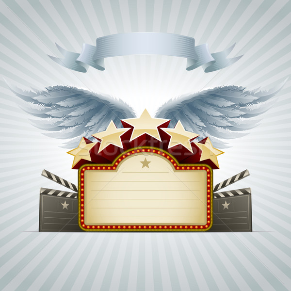 Winged movie banner Stock photo © sgursozlu