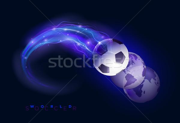World soccer design concept Stock photo © sgursozlu