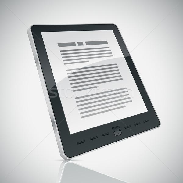 читатель электронных книга 3D экране Сток-фото © sgursozlu