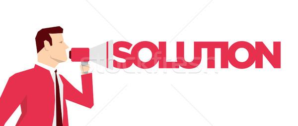 Vermelho terno empresário homem abstrato comunicação Foto stock © sgursozlu